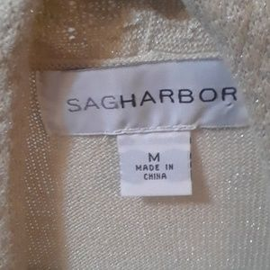 Sag Harbor Sweaters - Beige cardigan twinset sweater Medium